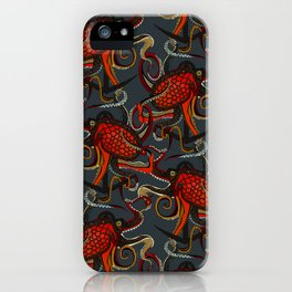 octopus ink gunmetal iPhone Case