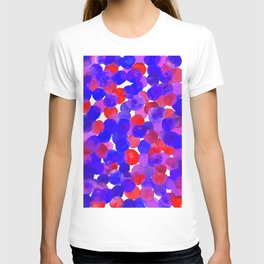 Watercolor Circles - Blue Red & Purple Palette T-shirt