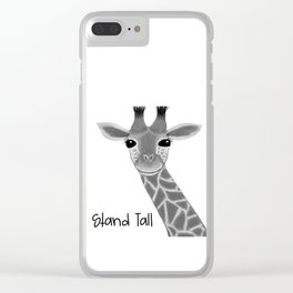 Stand Tall Giraffe Clear iPhone Case