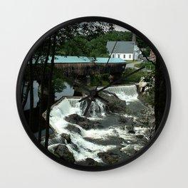Bath Covered Bridge Wall Clock