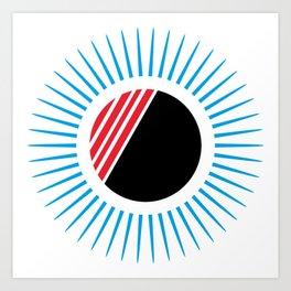 circulos y lineas Art Print