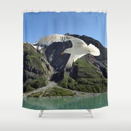 gull patrol Shower Curtain