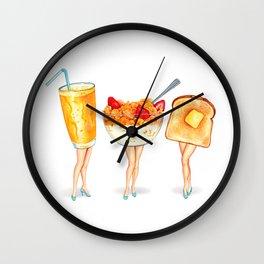 Breakfast Pin-Ups Wall Clock