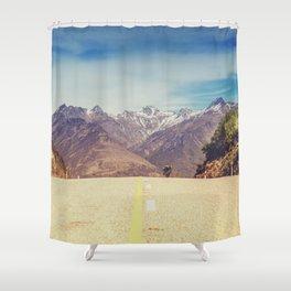 Long Mountain Road Shower Curtain