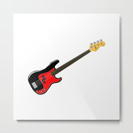 Fretless Bass Guitar Metal Print