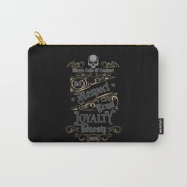 Bikers Code - Motorcyclist quote Design Carry-All Pouch