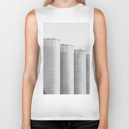 Industrial, architecture photography, fine art, black & white photo, b&w urban, man cave gift Biker Tank