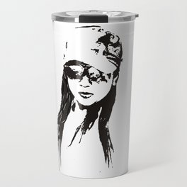 girl beach Travel Mug