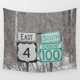 Vermont Street Signs Wall Tapestry