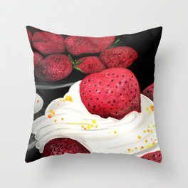 Strawberry Dream Throw Pillow