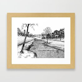 A walk to remember Framed Art Print