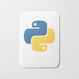 Python Official Logo Scripting Programming Language Bath Mat