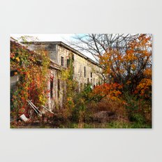 Somewhere in Rhode Island - Abandoned Mill 001  Canvas Print