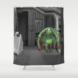 Unseen Monsters of Melbourne - Thorn Shower Curtain
