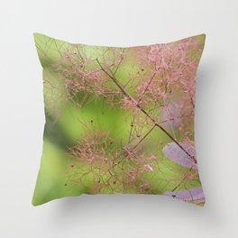 botanical coral  Throw Pillow