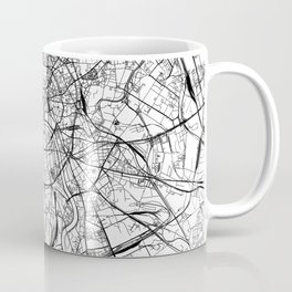 Moscow White Map Coffee Mug