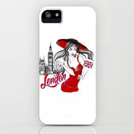London Girl iPhone Case