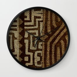 Bakuba Wall Clock