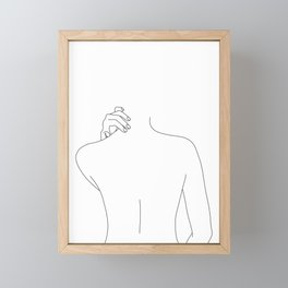 Nude back line drawing - Mai Framed Mini Art Print