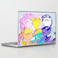 my little pony Laptop & iPad Skins featuring My Little Pony by Maranda Rae