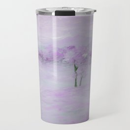 Purple Landscape with Trees Travel Mug