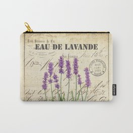 Lavender Antique Rustic Flowers Vintage Art Carry-All Pouch