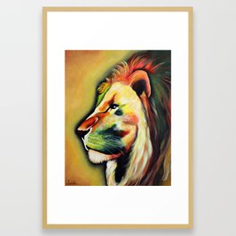 Conquering Lion Framed Art Print