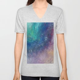 Cotton Candy Galaxy Unisex V-Neck