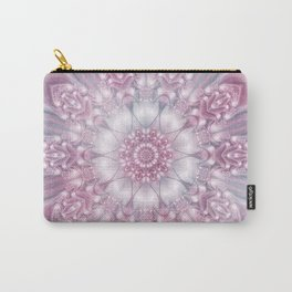 Dreams Mandala in Pink, Grey, Purple and White Carry-All Pouch