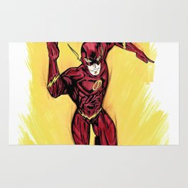 Flash. The fastest man alive Rug