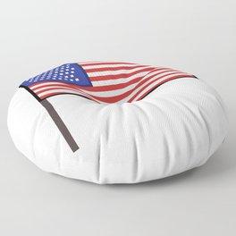Pixel art USA flag steady Floor Pillow