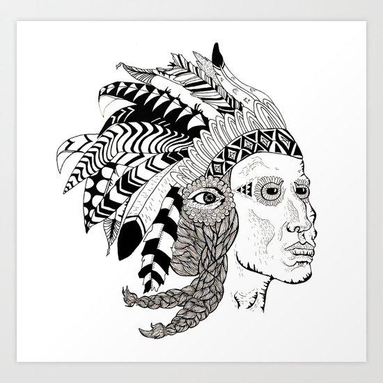 Indian Art Print