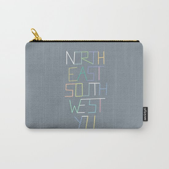 North East South West You Carry-All Pouch