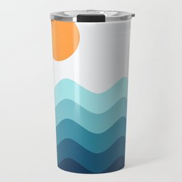 Abstract Landcape 14 Portrait Travel Mug
