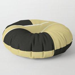 Team Color 6...black,gold Floor Pillow