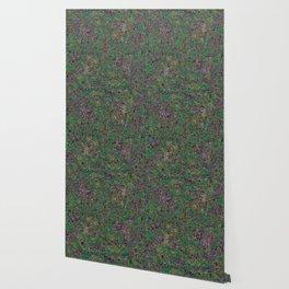 Mini Green and Purple Mini Mosaic Tile Wallpaper