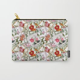 Vintage flowers on postage stamps Carry-All Pouch