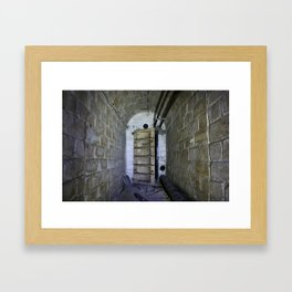 Fallout shelter entryway Framed Art Print