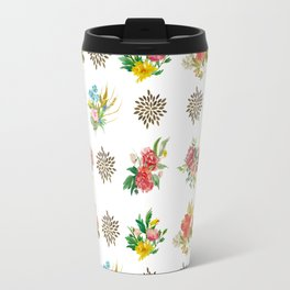 Pretty Floral Boutiques of Flowers Travel Mug
