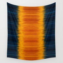 N249 - Orange Blue Oriental Vintage Boho Moroccan Style Wall Tapestry