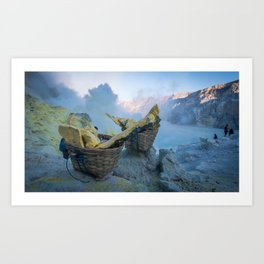 Ijen, Indonesia Art Print