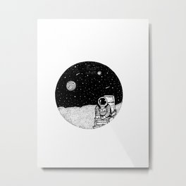 Waiting Metal Print