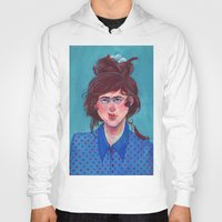 birdy Hoodies featuring Birdy by Alice Holleman
