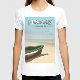 Norfolk Vintage Style travel poster T-shirt