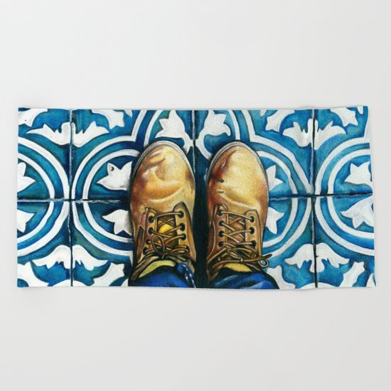 Art Beneath Our Feet - Mexico City Beach Towel