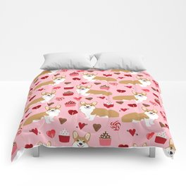 Corgi cupcakes valentines day cute love hearts dog breed corgi crew welsh corgis gifts Comforters