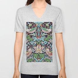 William Morris - Strawberry Thief - Artwork Reproduction for Wall Art, Prints, Tshirts, Posters, Men, Women Unisex V-Neck