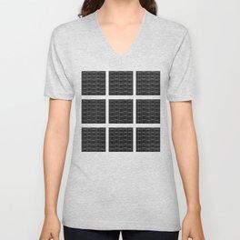 Black Squares and Dots Unisex V-Neck