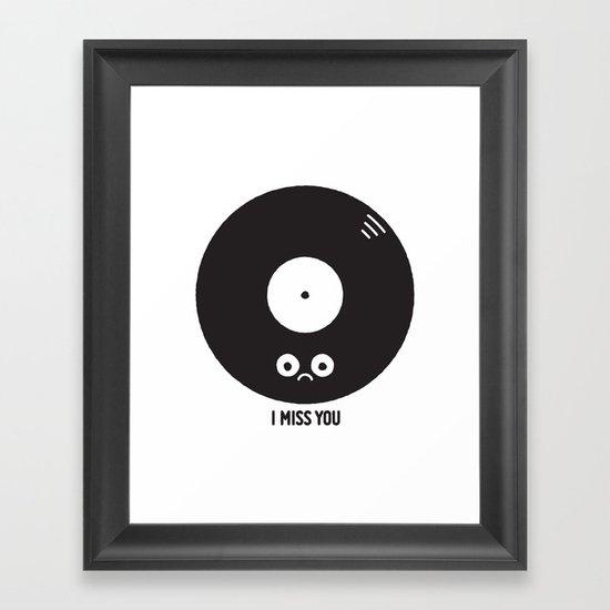 For the Record Framed Art Print