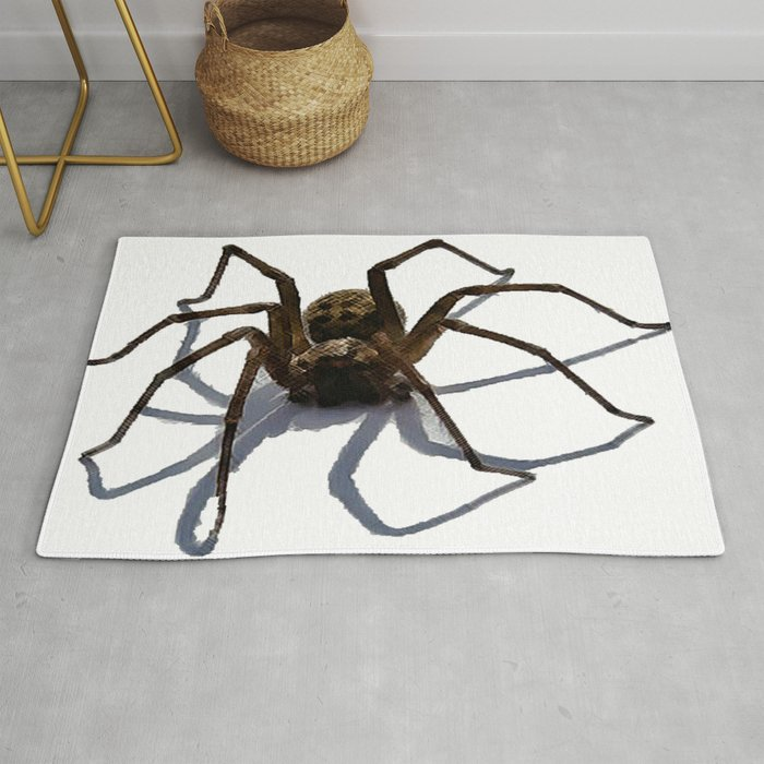 scary spider optical illusion halloween rug padstyle